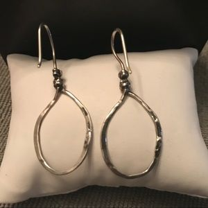"Silpada W1551 sterling silver ""lasso"" earrings."